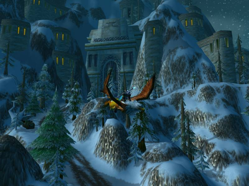 Flying out of Ironforge